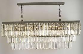 glass fringe rectangular chandelier