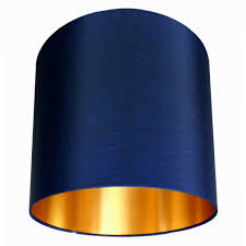 Lamp Shades Design Navy Lamp Shades Blue Inside Yellow Gold Copper