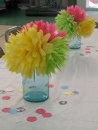 Tissue Paper Flower Centerpieces Cheap Diy Party Centerpieces Paper Flower Centerpieces