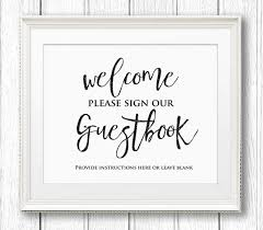 Free Download Wedding Guestbook Sign Printable Wedding Guest Book
