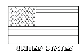 american flag coloring sheet page kindergarten us pretty new free