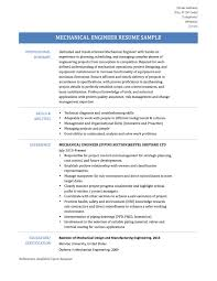 Pleasing Resume For A Mechanical Engineer On Mechanical Engineer