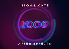Youtube Logo Templates Neon Lights Logo Reveal Free After Effects Template