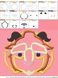 Tsum Tsum Color Chart Beauty Beast Tsum Tsum Applique Design