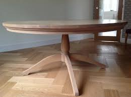 american white oak round dining table neptune seats 6 8