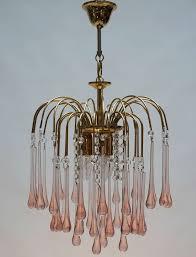 two italian venini teardrop chandeliers diameter 37 cm height fixture 45 cm total height