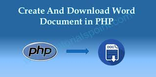 Download Word Doc Create And Download Word Document In Php