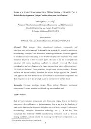 Fundamentals Of Machine Component Design 6th Edition Solutions Pdf Pdf Design Of A Five Axis Ultra Precision Micro Milling