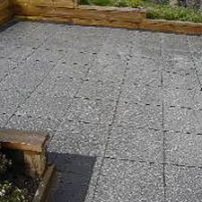 exposed aggregate hydrapressed paving