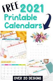 Free printable 2021 calendars in adobe pdf format (.pdf). Free Printable 2021 Calendars Crafting In The Rain