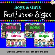 boy and girl bathroom signs. {freebie} Boys And Girls Bathroom Signs - Spanish Versions Too! Boy Girl G