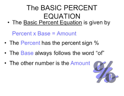 24 the basic percent equation