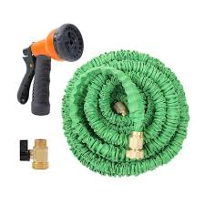 expanding garden hose. 25FT To 100FT Expandable Garden Hose With Brass Connector And Spray Nozzle-in Hoses Expanding