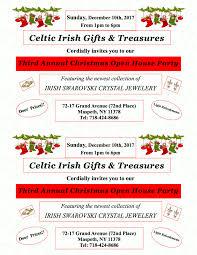 celtic irish gifts treres party 2017