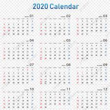 Calendar 2020 2020 Calendar Date Calendar Week Png And