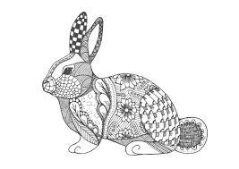 ウサギ01 A4無料印刷の大人のぬりえ 切り絵 うさぎイラストぬり絵