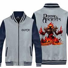 nevermore zip sweatshirt for men dota game baseball jacket design