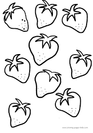 Strawberry Coloring Pictures Added Zoe Free Printables