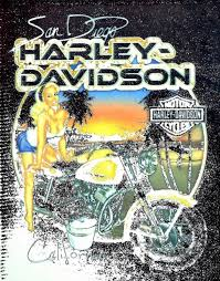 free stock photo of harley davidson motorcycles advertising sign board created by ian l
