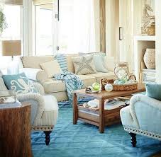 Blue and Sandy Beige Beach Living Room by Pier 1