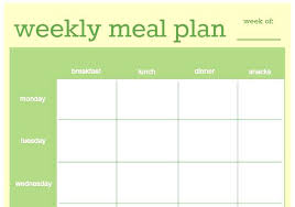 Weight Watchers Weekly Menu Planner Template Diet Muffins Meal Plan ...