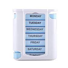 Zerodis Weekly Pill Organizer, Portable 28 Grid 7 ... - Amazon.com