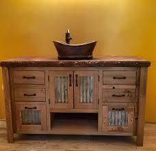 rustic vanity 48 reclaimed barn wood