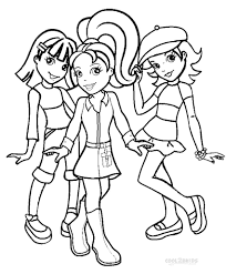 Mattel Barbie Kleurplaat Barbie Fashionista Coloring Pages