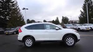 2016 honda crv white.  White 2015 Honda CRV EXL  White Diamond Pearl FL034716 Seattle Renton   YouTube Intended 2016 Crv N