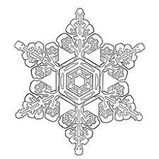 Snowflake Mandala Coloring Pages My Localdea