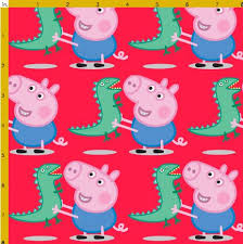 Peppa Pig and George Fabric | Jazzeira Designs | madeit.com.au & ... Peppa Pig and George Fabric Adamdwight.com