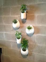wall pocket planter ceramic wall planters set five white wall pocket set by living wall pocket