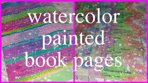 watercolor painting on book pages totally awesome