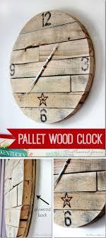 diy pallet wood clock