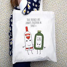 Drôle Damitié Citation Tote Bag Meilleur Ami Cadeau Citation Amitié Cadeau Pour Un Ami Cadeau Damant De Gin Sac Shopping Sac