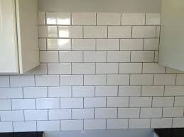 white subway tile with gray grout white tile gray grout marvellous subway with light grey on