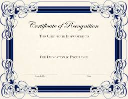 Certificate Of Participation Template For Seminar Professional