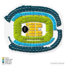 U2 Us Bank Stadium Seating Chart 46 Complete Us Bank Stadium Seating Map