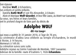 Hommages - Pour que son souvenir demeure: Adolphe WOLF