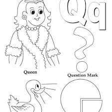 Small Picture Preschool Kids Learn Upper Case Letter Q Coloring Page Bulk Color