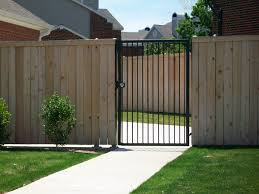 wrought iron privacy fence. Side-by-side-cedar Wrought Iron Privacy Fence N
