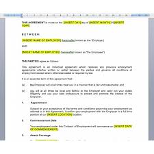 Employment Agreement Contract Gorgeous Full Time Employment Contract Lawus Contract Template Employment