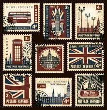 Stamps Template United Kingdom Postage Stamps Template Vector Free Download