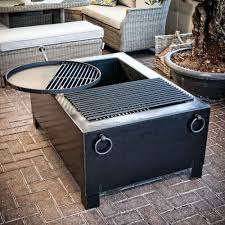 Fire Pit Swing Fire Pit Box With Swing Arm Grill