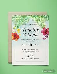 Free Beach Wedding Invitation Template Download 518 Invitations In