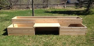4 x 12 raised garden bed with bench