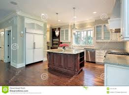 Granite Island Kitchen Kitchen With Granite Island Stock Images Image 13174134