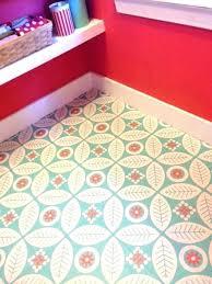 retro floor tiles patterned vinyl tile flower vintage ceramic hallway