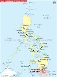 Intensity ii was recorded in quezon city, taguig city, pasay city, gapan city, cabanatuan city, pantabangan. Philippines Earthquake Map Places Affected By Earthquake In Philippines
