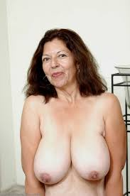 Big breast lady nude old
